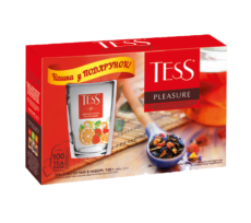 "A new promo-package of ""TESS PLEASURE with a branded cup as a gift"