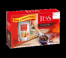 """Набір чаю """"TESS PLEASURE"""" з чашкою у подарунок!"""